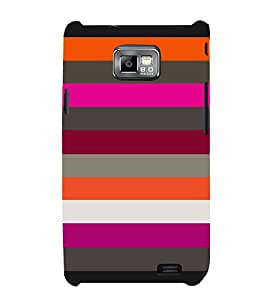 Zanda Lines Pattern 3D Hard Polycarbonate Designer Back Case Cover for Samsung Galaxy S2 :: Samsung Galaxy S2 i9100