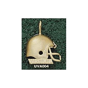 Virginia Cavaliers Virginia Helmet Pendant - 14KT Gold Jewelry by Logo Art