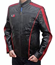 Real Leather Jacket Mass Effect 3 N7 Jacket M