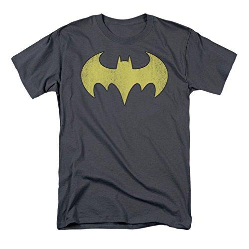 DC Comics Men's Batgirl Logo Distressed T-Shirt