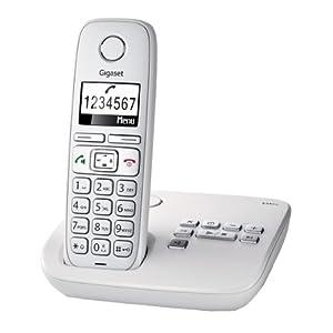 Gigaset E310A Téléphone sans fil avec répondeur intègre Blanc