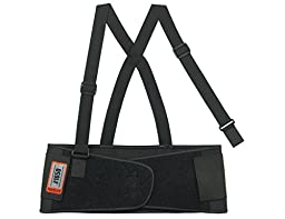 Ergodyne ProFlex 1650 Economy Elastic Back Support Belt, Black, X-Small