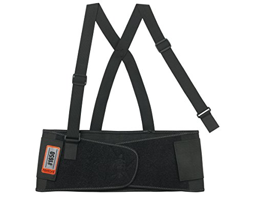 Ergodyne ProFlex 1650 Economy Elastic Back Support Belt, Black, Large (Binding Belt compare prices)