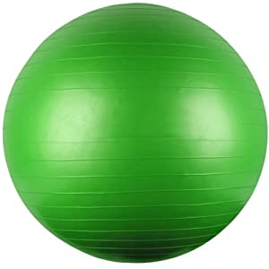 75Cm Yoga/Fitness Ball With Instructional Dvd -Affordable Gift for your Loved One! Item DCHI-GBL-75