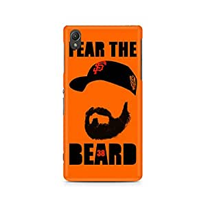 Motivatebox- Fear the Beard Bud Premium Printed Case For Sony Xperia Z2 L50W -Matte Polycarbonate 3D Hard case Mobile Cell Phone Protective BACK CASE COVER. Hard Shockproof Scratch-