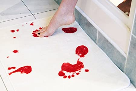 BLOODY BATH MAT Halloween Decor
