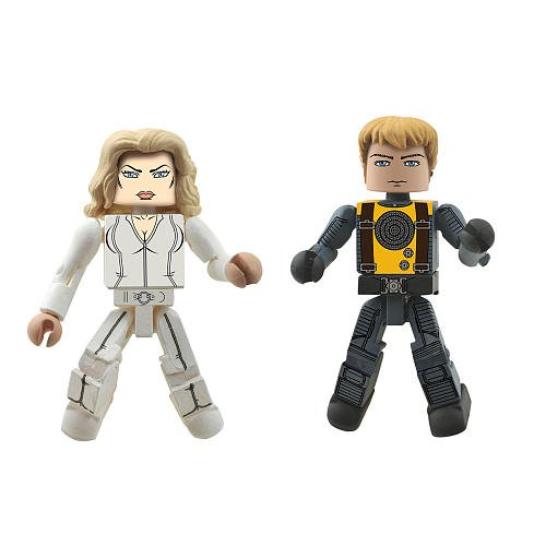 Marvel Minimates XMen First Class Exclusive Mini Figure 2Pack Emma Frost Havok by Diamond Select