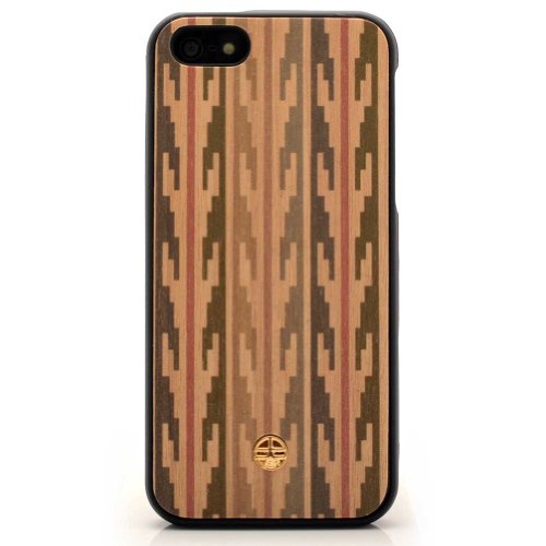 Ethnic Peacan Wooden Case Iphone 5 & 5S Case Cover Original From Bante Yante - Wooden Imprinted Journal With A Handmade Wooden Cover front-50748