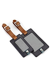 Autograph Leather Luggage Tags