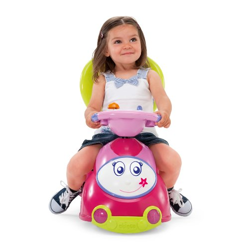 Chicco 4-in-1 Ride-On Car, Pink - 1
