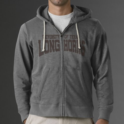 NCAA Texas Longhorns Slugger Full Zip Hooded Sweatshirt, Grey, X-Large at Amazon.com