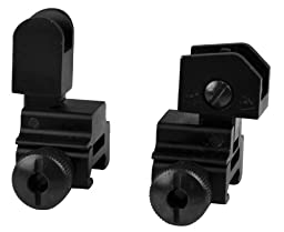 SNIPER® Front Rear Flip-up Sight Side bolt detachable, A2 iron sight, Windage adjustment