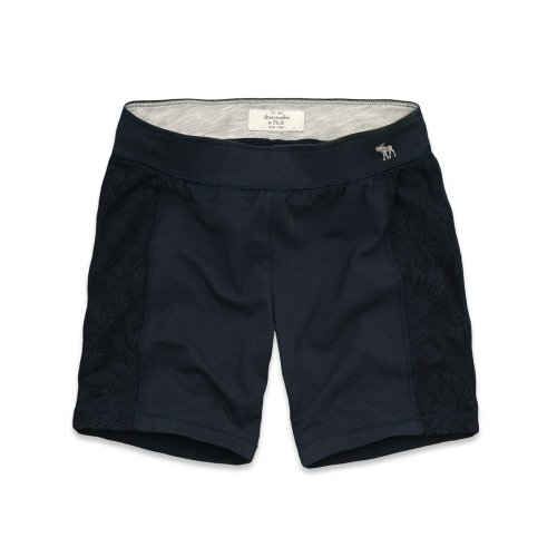 Abercrombie & Fitch, pantaloncini da yoga, colore: blu navy Navy XS