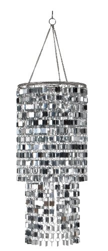 41crD4i2L6L Wall Pops WPC96860 Ready to Hang Bling Chandelier, Icicles