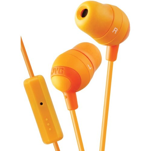 Jvc Hafr37D Marshmallow(R) Inner-Ear Earbuds With Microphone & Remote (Orange) (Hafr37D)
