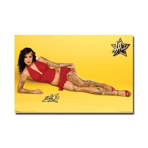 KAT VON D Poster La Ink Hot Sexy Dress Tattoo Rare NEW Poster Buy for 599
