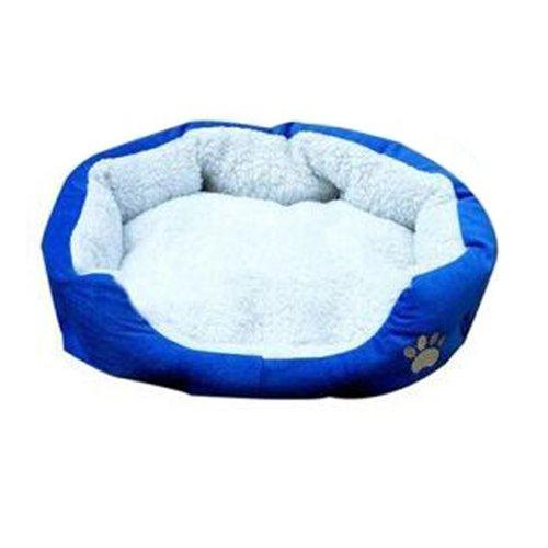 New Small Puppy Cotton Pet Dog Cat Soft Fleece Warm Bed House Nest Mat Medium Blue
