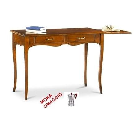 CLASSICO scrivania scrittoio 2 cassetti piano in legno per studio e sala 531 110x56x80