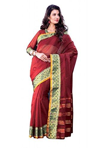ISHIN Cotton Red Sarees Devdas
