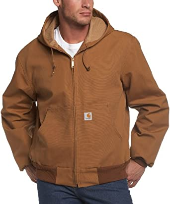 Carhartt Men's Big & Tall Thermal Lined Duck Active Jacket,Brown,Large Tall