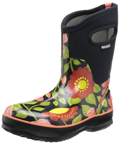 Bogs Women's Classic Mid Secret Garden Boot,Black Multi,9 M US