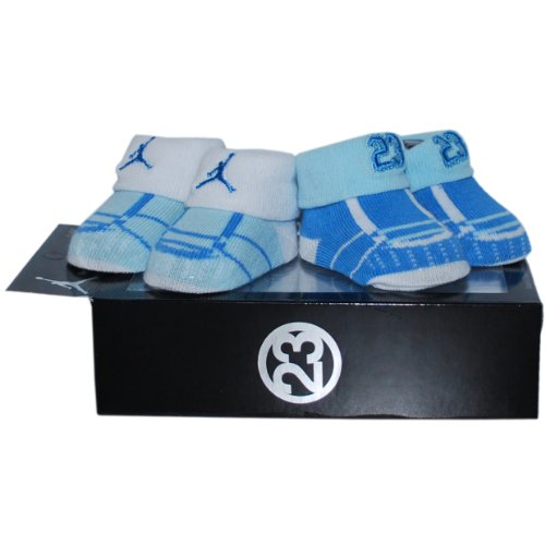 Jordan 0-6 Months 2 Pack Sneaker Booties (0-6 Months, Blue)