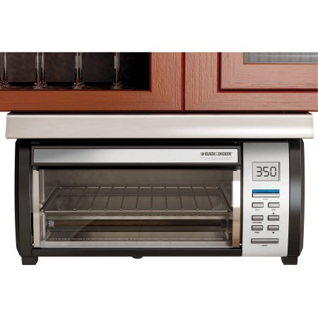 Spacemaker Black and Stainless Toaster Oven with 7 Toast-shade Settings From Light to Dark (Under The Cabinet Toaster Oven compare prices)