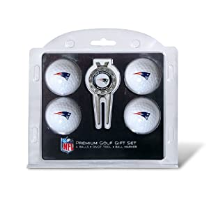 NFL New England Patriots 4 Golf Balls and Divot Tool by Team Golf