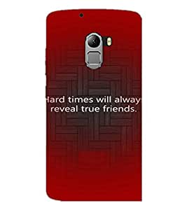 PrintDhaba Quote D-3926 Back Case Cover for LENOVO K4 NOTE A7010a48 (Multi-Coloured)