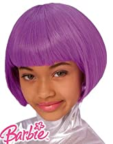 Mattel Barbie Child's Purple Bob Costume Dress Up Wig