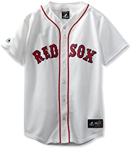MLB Boston Red Sox Home Replica Baseball Youth Jersey, White by Majestic