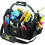 Custom Leathercraft L234 22-Pocket Lighted Open Top Tool Bag
