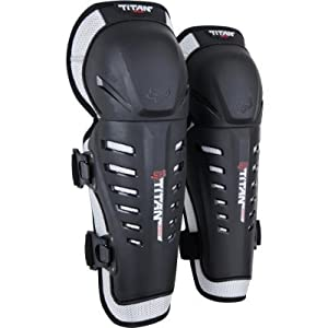 FOX TITAN RACE YOUTH KNEE/SHIN GUARD BLACK/SILVER