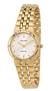 Accurist Women's Quartz Watch with Silver Dial Analogue Display and Gold Stainless Steel Bracelet LB1860S