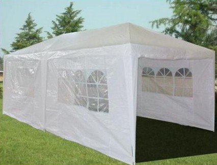 Quictent New White 10'x20' Party Wedding Tent Canopy Gazebo with Door Window