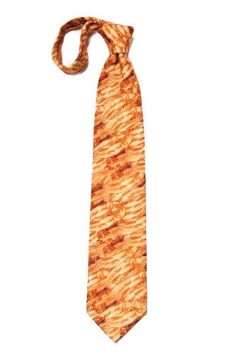 Orange Microfiber Tie | Sizzlin' Bacon Necktie