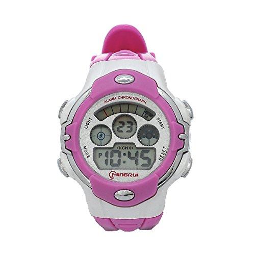 8Years- 1 Stueck Outdoor Digitaluhr Armbanduhr Stoppuhr Watch Wasserdicht Violett