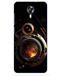 Snazzy Camera Printed Multicolor Hard Back Cover For MEIZU M2