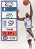 2010-11 Panini Playoff Contenders Patches Basketball #30 James Harden Oklahoma City Thunder NBA Trading Card Amazon.com