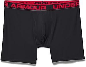 Under Armour Original Boxerjock 6 Inch Extented Boxer Brief - Black, Large