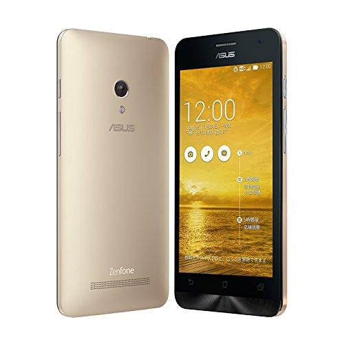 国内正規品ASUSTek ZenFone5 OCN モバイル ONE 音声対応SIMセット( SIMフリー / Android4.4.2 / 5型ワイド / microSIM / LTE) A500KL月額900円~SIMアダプタ+SIMカードケース付 (32GB, ゴールド)