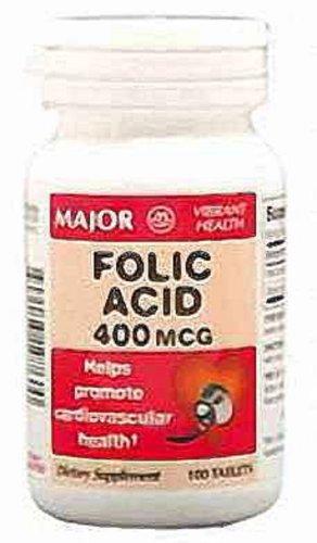 Folic Acid Tablets, 0.4Mg, 100Ct (Pack Of 2)