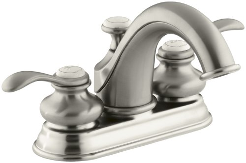 KOHLER K-12266-4-BN Fairfax Centerset Lavatory Faucet, Vibrant Brushed Nickel (Kohler Bathroom Faucet Nickel compare prices)