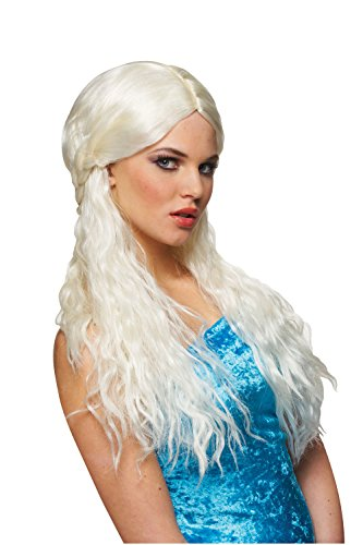 Platinum Barbarian Bride Costume Wig - 1