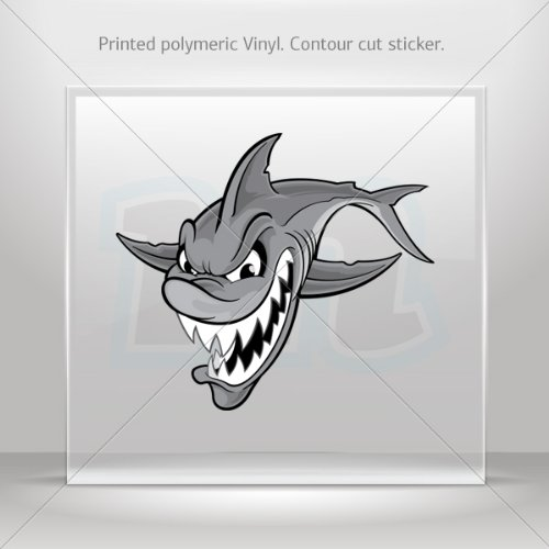 Sticker Decal Angry Shark Attack Car Door Hobbies Sports Car Durable Racing Motorbikes 0500 Zz79X front-196852