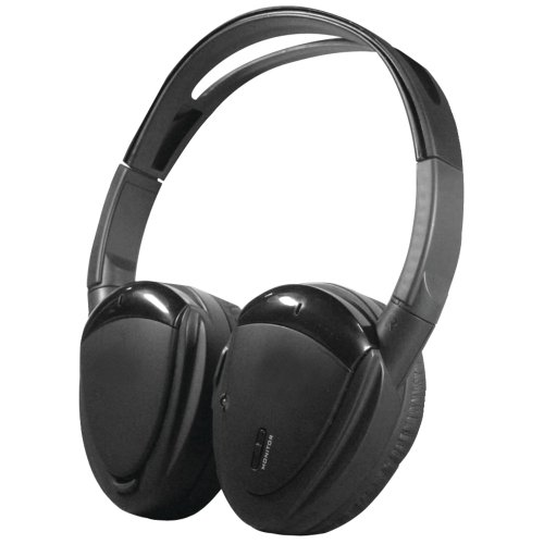 Power Acoustik Hp-900S Swivel Ear Pad, 2-Channel Rf 900Mhz Wireless Headphones