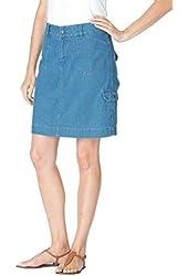 Women's Plus Size Denim Skort Skirt
