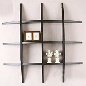 curve wall mounted storage display shelves black. Black Bedroom Furniture Sets. Home Design Ideas