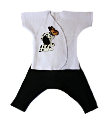 Adorable Dog and Butterfly Baby Clothing Set