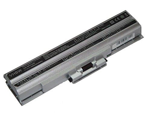 vhbw Li-Ion Batterie 4400mAh (11.1V) argent pour ordinateur portable, Notebook Sony Vaio VGN-AW92DS, VGN-AW92JS, VGN-AW92YS comme Sony VGP-BPL13.
